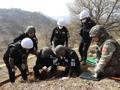 Exhumation des restes de victimes de la guerre de Corée