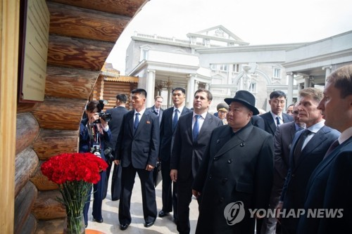 김정은, 부친이 17년전 찾았던 식당서 연해주 주지사와 오찬(종합2보)