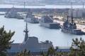 釜山に各国艦艇が入港
