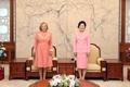 Primeras damas de Corea del Sur y Chile