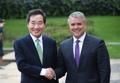El PM surcoreano y el presidente colombiano