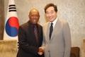 韓国首相 ヒューストン市長と会談