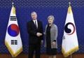 La canciller surcoreana y el enviado nuclear estadounidense