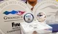 光州で世界水泳 記念銀貨公開