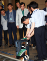 El PM inspecciona la lucha contra la peste porcina africana