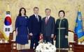 El príncipe heredero Federico de Dinamarca en Corea del Sur