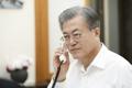 الرئيس مون يجري مكالمة هاتفية مع ولي عهد أبوظبي