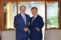 El presidente surcoreano con el expresidente estadounidense