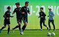 Entrenamiento para la Copa Mundial de Fútbol Sub-20 contra Sudáfrica