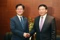 El ministro de Industria con el jefe del partido de Jiangsu