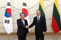 El presidente parlamentario con el PM de Lituania