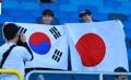 スタジアムで韓日交流