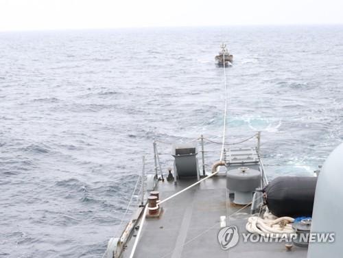 나흘 만에 北어선 구조…이번에는 '軍 핫라인' 가동 안된 듯(종합)