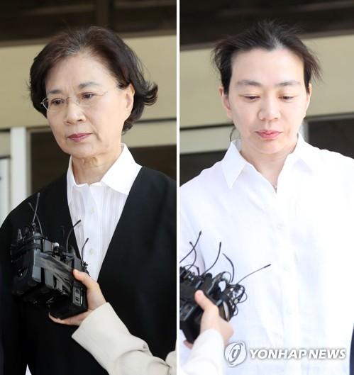 '명품 밀수' 한진그룹 이명희 모녀 항소심 선고 20일로 연기