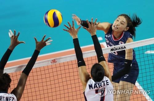 무서운 지한파 베띠…한국여자배구, 도미니카공화국에 1-3 패배