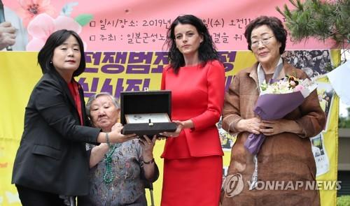 '코소보 내전 생존자' 바스피예, 제2회 김복동평화상 수상