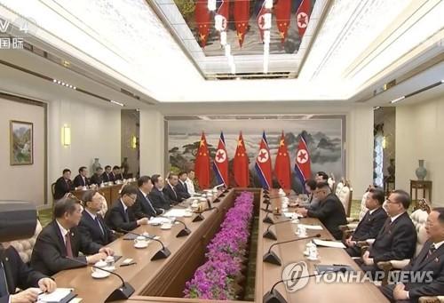 """시진핑 방북에 '외교·경제 사령탑' 대동…""""경협 논의 시사""""(종합)"""