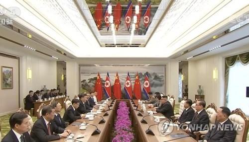 최룡해·김재룡, 북중정상회담 배석…경제협력 집중 논의된 듯