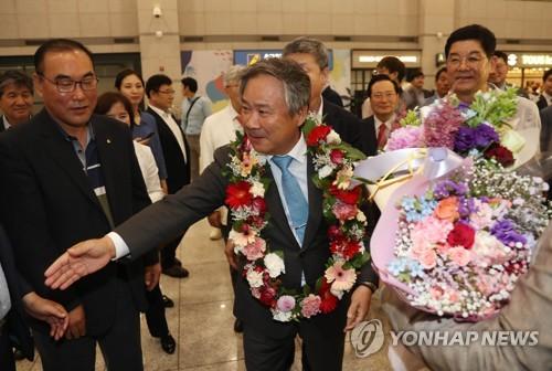 (News Focus) S. Korean IOC members hopeful DMZ meeting will offer breakthrough for sports cooperation