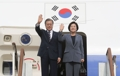 Moon Jae-in y Kim Jung-sook regresan a Seúl