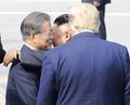 Moon y Trump se despiden de Kim