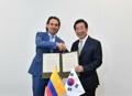 El alcalde de Seúl con su homólogo de Medellín