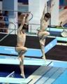 Saltadores de trampolín surcoreanos en el campeonato de la FINA