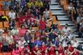 Espectadores extranjeros en el campeonato mundial de la FINA
