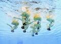 El equipo nacional de natación artística