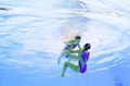 El dúo femenino surcoreano de natación sincronizada