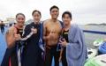 Nadadores surcoreanos en aguas abiertas