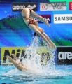Canadian swimmer soars into the air