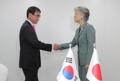 Cancilleres de Corea del Sur y Japón