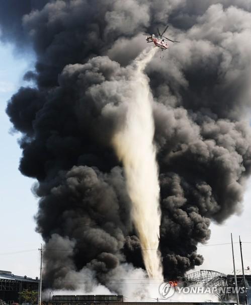화성시 '연이은 화재' 우정읍 폐기물업체 전수 점검