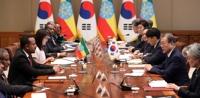 한·에티오피아 정상회담··· 文대통령, 한반도 평화 지지 당부
