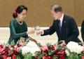 Avec Aung San Suu Kyi