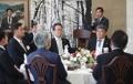 Déjeuner avec des Coréens au Japon