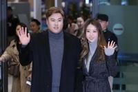 '내셔널리그 사이영상 투표서 단독 2위'…귀국하는 류현진-배지현 부부