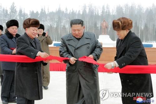 """김정은의 '삼지연군 애착'…""""집권후 경제분야 최다 방문지"""""""