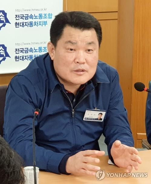 """이상수 현대차 신임지부장 """"車 국가기간산업, 노사대립 위험"""""""