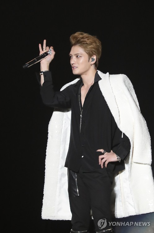 This file photo shows JYJ's Kim Jae-joong. (Yonhap)