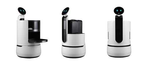 Shown in the picture released by LG Electronics Inc. on Nov. 4, 2018, are concept images of CLOi robots. (Yonhap)