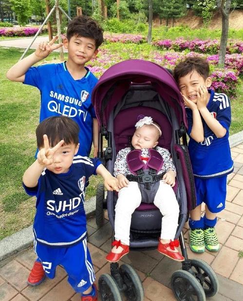 '4남매기부자' 손건호(7)·채호(5)·지호(3)·가온누리(1)남매